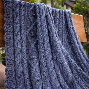 Handknit baby alpaca blanket